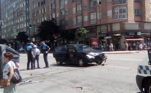 Accidente sin heridos en la calle Vitoria