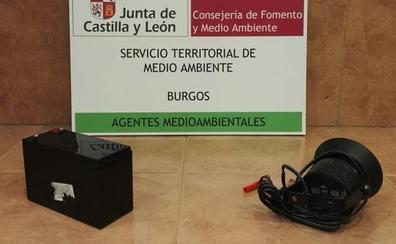 Pillan a un cazador con reclamos electrónicos en la comarca del Arlanza