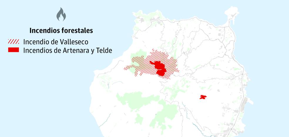 El incendio de Gran Canaria avanza sin control y deja ya 9.000 evacuados