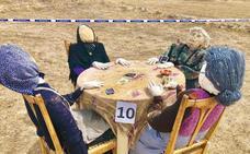 Imágenes del II Concurso de espantapájaros en Palazuelos de Muñó