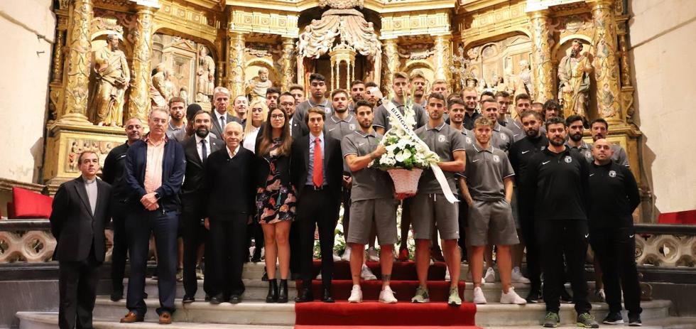 El Burgos CF se encomienda a Santa María La Mayor antes del inicio de temporada