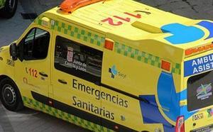Un herido al volcar un turismo en la N-623