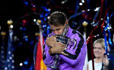 Rafa Nadal celebra su cuarto título del Abierto de Estados Unidos