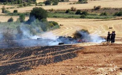Los fuegos por maquinaria agrícola queman 328 hectáreas, el 84,6% del total de superficie calcinada este verano