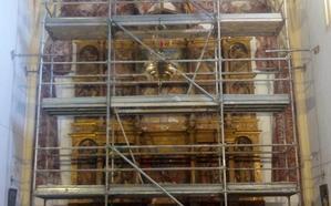 Quintanilla de Riofresno ya vislumbra el esplendor de su retablo