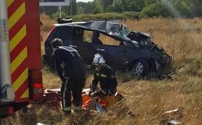 Excarcelan a un varón de 48 años tras sufrir un accidente en la N-120 a la salida de Burgos