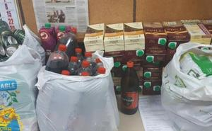 Cientos de latas de cerveza y 50 cartones de vino, incautados anoche por la Policía en Burgos durante las novatadas