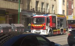 Herido el cocinero de un restaurante de la calle Madrid como consecuencia de un incendio