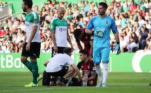 Martín Merquelanz sufre un esguince en su tobillo izquierdo