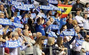 Los seguidores del San Pablo Burgos, fieles en la Basketball Champions League