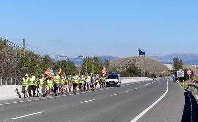 Llega a Burgos la marcha a pie hasta Madrid para reclamar «pensiones dignas garantizadas»