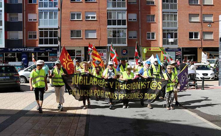 La Columna Norte de pensionistas recibe el apoyo de Burgos
