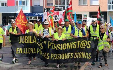La Columna Norte recibe el apoyo de los pensionistas burgaleses en su camino a Madrid