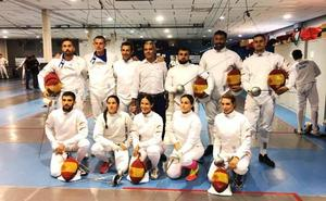 Los burgaleses Néstor Pérez y Jaime Durán participan en los Juegos Mundiales Militares con el equipo nacional de esgrima