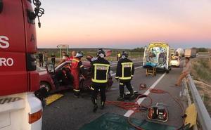 Fresnillo de las Dueñas exigirá más seguridad en el entronque entre A-11 y N-122 tras el último accidente vial
