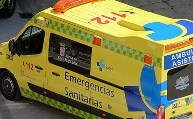 Trasladan al Santiago Apóstol a una mujer atropellada en la calle Condado de Treviño de Miranda