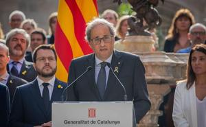 Torra y Puigdemont llaman a reaccionar y manifestarse contra la sentencia