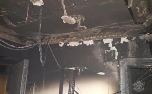 Importante susto por el incendio de una vivienda en Santa Águeda