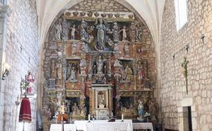 Los vecinos de Cardeñuela Riopico buscan apoyo en Internet para restaurar el retablo de Bigarny