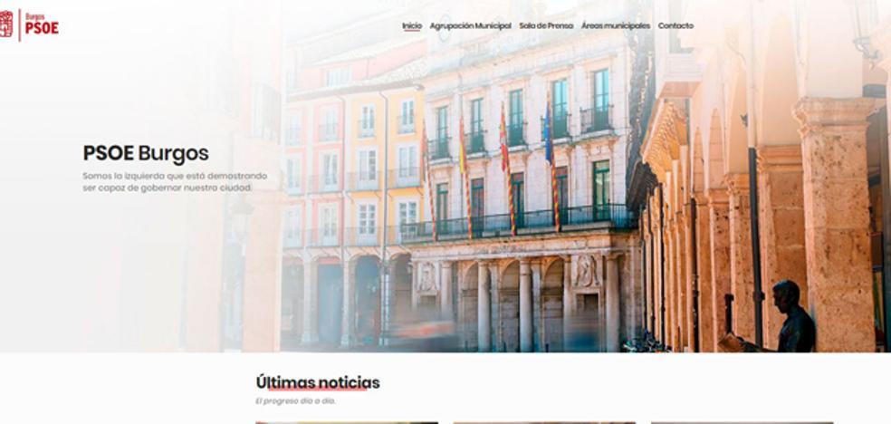 El PSOE de Burgos estrena una web «actual» y «segura» con una hemeroteca con más de 3.000 archivos