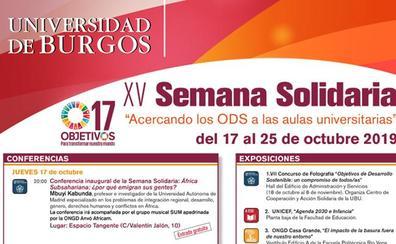 La Universidad de Burgos celebra la XV Semana Solidaria del 17 al 25 de octubre