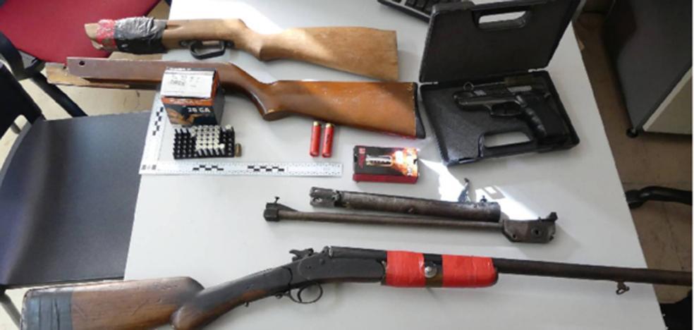 Detenido un hombre en Aranda por amenazar de muerte a su familia y tenencia ilícita de armas