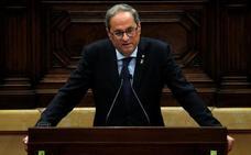 Torra se pone como objetivo celebrar un referéndum al final de la legislatura