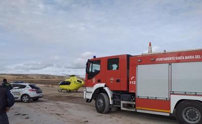 Herido un operario tras precipitarse desde una estructura en una obra en Santa María del Campo