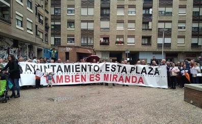 Ciudadanos pide que el vallado de la Plaza Pequeña se ofrezca a otras zonas de Miranda de Ebro