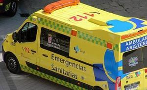 Una colisión entre un camión y un turismo deja un herido en Briviesca