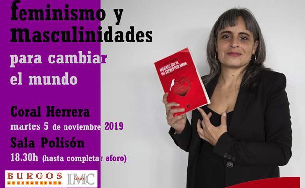 La escritora Coral Herrera expone su versión del feminismo y las masculinidades en Burgos el 5 de noviembre